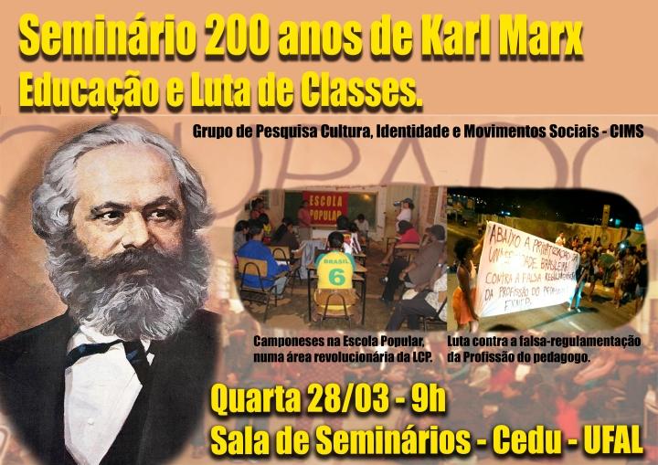 Seminário 200 anos de Marx - UFAL