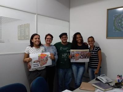 Comissão Organizadora junto à pró-reitora de extensão Jussara Maria de Carvalho Guimarães